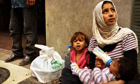 A female Syrian refugee on the streets of Beirut