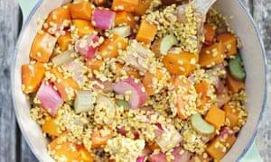 David Frenkiel and Luise Vindahl's rhubarb, apple & yellow split pea stew