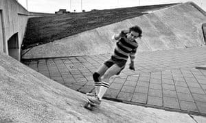 skateboarding  in 70s England