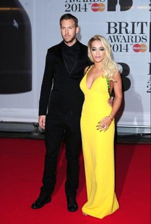 Calvin Harris (left) and Rita Ora arriving