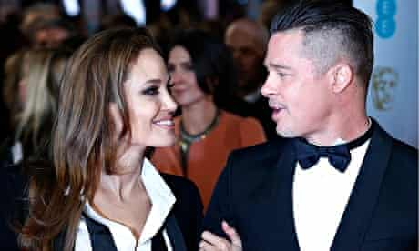 Angelina Jolie and Brad Pitt at the Baftas