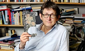 Guardian editor Alan Rusbridger with a smashed-up hard drive after GCHQ's visit