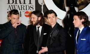 Arctic Monkeys at the Brit awards 2014