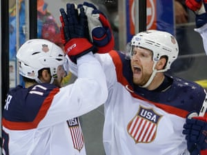 Phil Kessel and Team USA put together another solid effort in eliminating the Czech Republic 5-2 in the quarterfinals of the men's Olympic ice hockey tournament in Sochi. The United States move on to the semifinals and will play Canada on Friday after they defeated Latvia 2-1.
