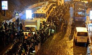 Kiev protests riot police