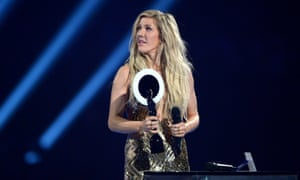 Ellie Goulding wins British Female Solo Artist.