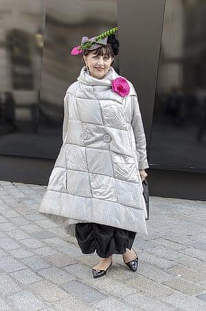 Older Models - Weekend : woman in grey coat