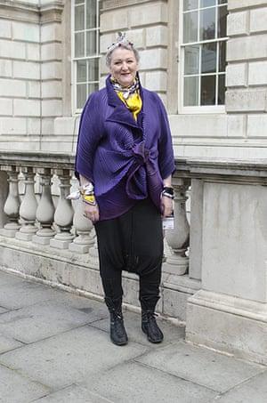 Older Models - Weekend : older woman with purple jacket