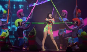 Katy Perry performs onstage.