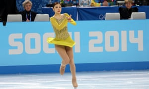 Kim Yuna of South Korea performs during the women's short program in Sochi,