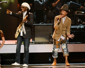 Nile Rodgers and Pharrell Williams close the show.