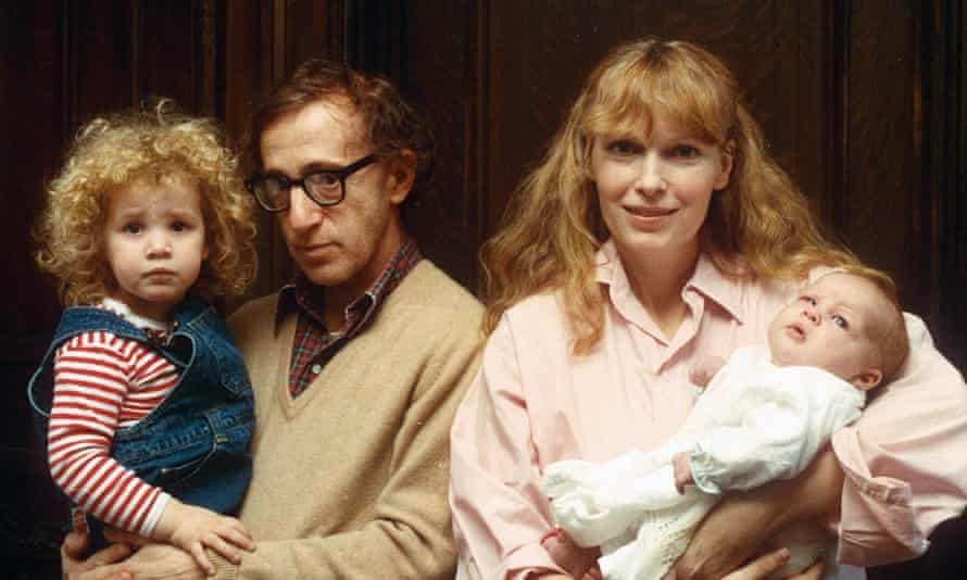 Woody Allen and Mia Farrow with children Dylan and Ronan in 1988.
