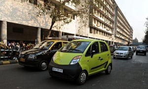 An Indian Tata Nano car