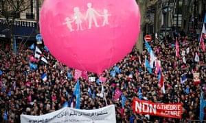 Manif Pour Tous demonstrators in Paris