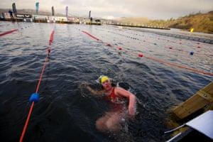 Water temperatures hovered at around 5C.
