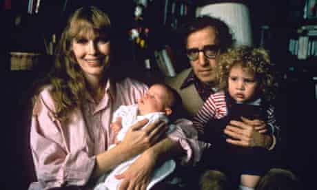 Woody Allen and Mia Farrow with children Dylan and Ronan.
