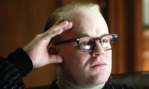 """Philip Seymour Hoffman portrays author Truman Capote his Oscar winning role in a scene from the film """"Capote."""""""