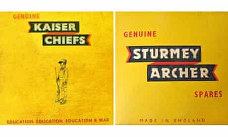 Kaiser Chiefs album cover and Sturmey Archer bicycle repair kit