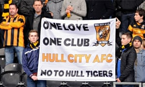 Hull City fans against re-brand