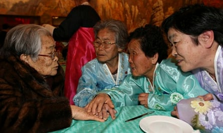 North and South Koreans in poignant reunions after decades of separation