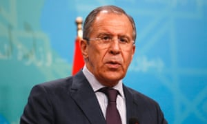 Russia's Foreign Minister Sergei Lavrov.
