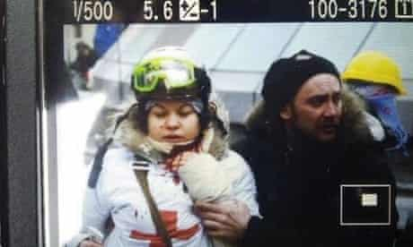 Olesya Zhukovskaya a medic and activist who was killed in the protests in Kiev.