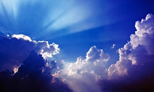 Sunbeams over the Clouds