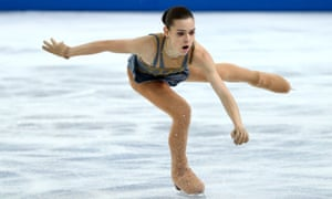 Adelina Sotnikova of Russia competes in the figure skating final on day 13 of the Sochi Winter Olympics.