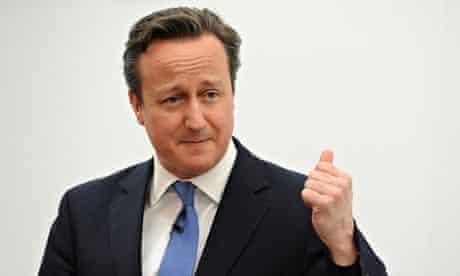 David Cameron in action