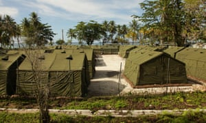 Part of the detention centre at Manus Island where children could have witnessed the weekend's violence.