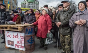 Peaceful protests in Lviv