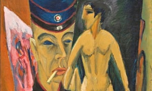 Selbstbildnis als Soldat (Self-portrait as a Soldier) by Ludwig Kirchner, 1915