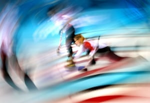 Jennifer Jones of Canada in action during the women's gold medal match between Sweden and Canada in the curling competition.