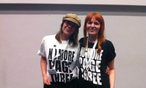 Lucy-Anne Holmes, left, Angela Towers, right