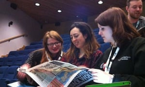Students look at newspapers to see if they support lad culture.