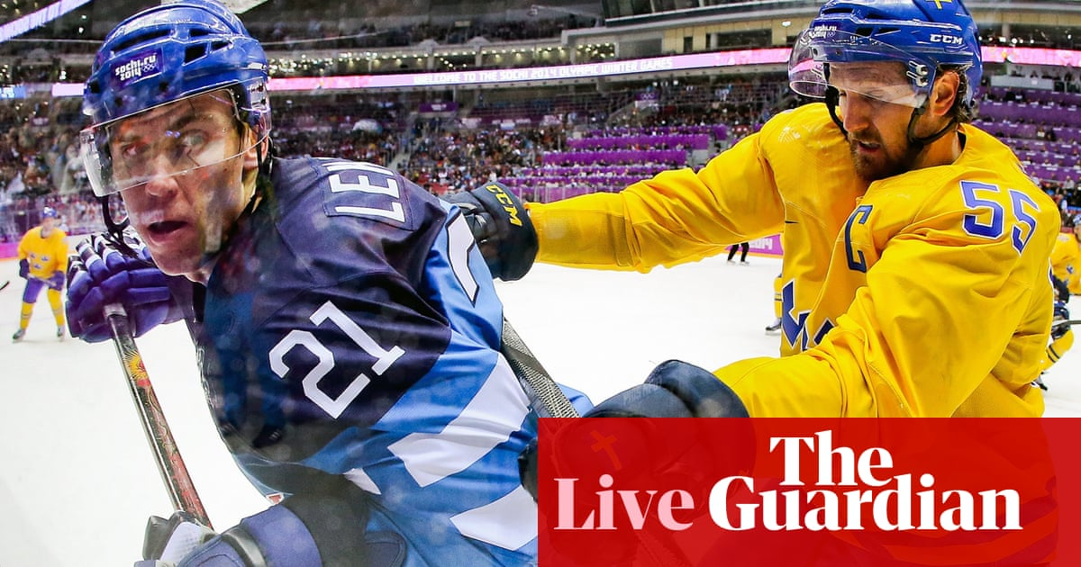 Olympic men's ice hockey semifinal: Finland 1-2 Sweden ...
