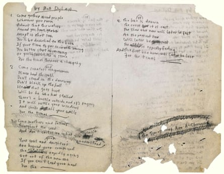 The Times They Are a-Changin lyrics