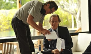 David Hare and Bill Nighy on the set of their new spy drama, Turks and Caicos.