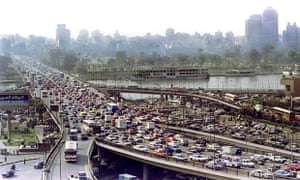 Traffic congestion in Cairo
