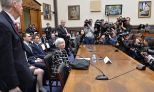 US Federal Reserve Chair Janet Yellen gives her first testimony to Congress.