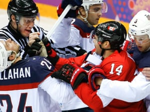 Olympic men's ice hockey semi-final: Canada 1-0 United ...