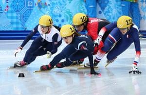 christie: Short Track Speed Skating - Winter Olympics Day 14