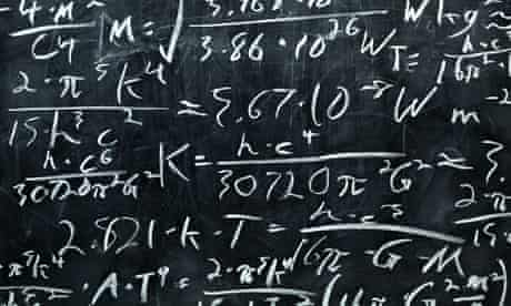 Blackboard covered in equations