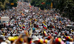Protest against Maduro government in Caracas