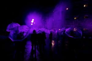 'Purple Rain' at White Night Festival in Melbourne.