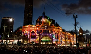 Flinders Street Station eliminated by projections