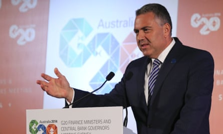 Joe Hockey delivers a closing statement to the media after the G20 meetings.