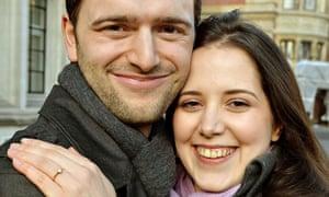 Louisa Hodkin and her fiancee Alessandro Calcioli