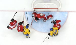 Sweden got very close early on vs Canada in the men's Olympic ice hockey gold medal game in Sochi.