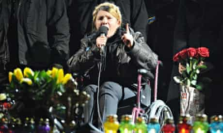 The former Ukrainian prime minister Yulia Tymoshenko